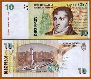 Argentina-10-Pesos-ND-2003-P-354-UNC-Replacement