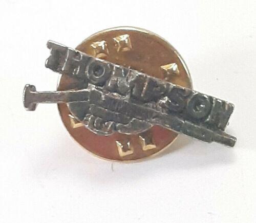 Vintage 1960s Mayor Macon Georgia Ronnie Thompson Machine Gun Lapel Pin