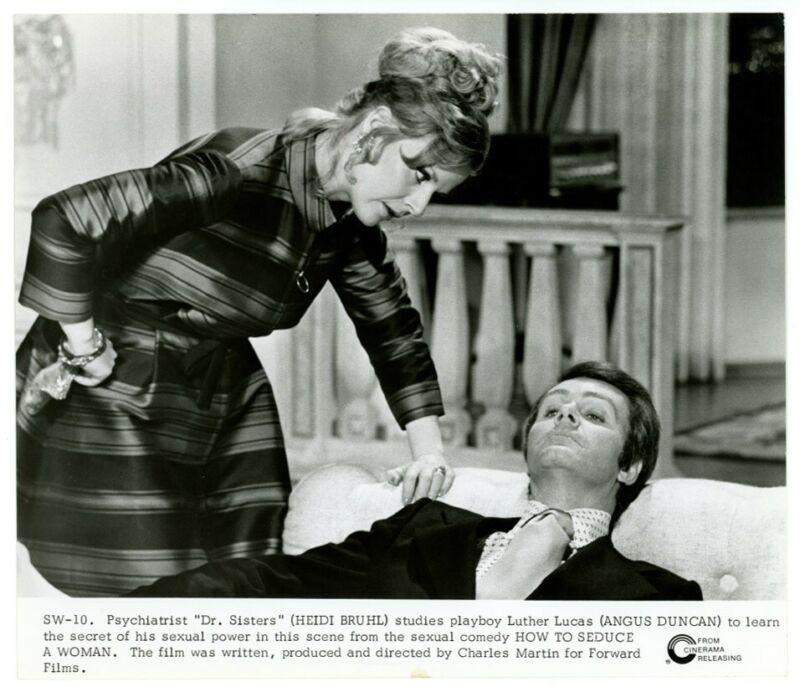 HEIDI BRUHL, ANGUS DUNCAN original movie photo 1974 HOW TO SEDUCE A WOMAN