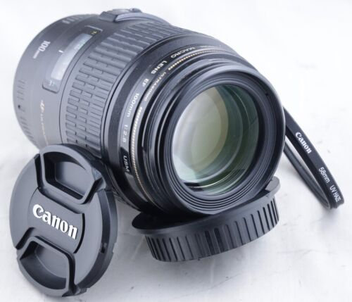 Canon EF 100mm f/2.8 Macro USM Lens for EOS 1D 5D 6D 7D 90D 80D T8i T7i T6i SL2