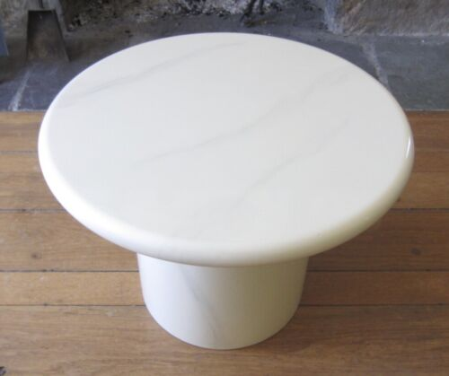 Vintage Chic Low Round White Lacquer Table 80