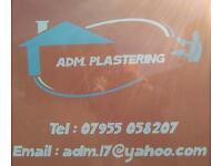 ADM PLASTERING NO JOB TO SMALL FOR ALL YOU PLASTERING NEEDS