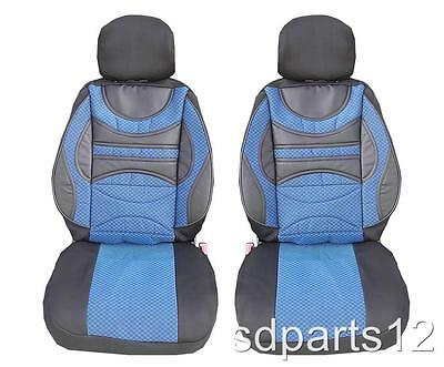 1+1 Premium Blau-Schwarz Cover Abdeckungen Sitze für Mercedes ML W163 Sprinter