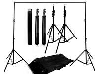 Superb 2000W Home-Studio Backdrop/Lighting/Stand Set