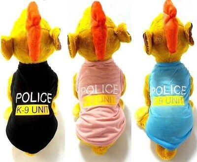Police Dog Costume (Pet Dog Police K-9 Unit Vest T-Shirt Puppy Clothes Apparel Costume Halloween)