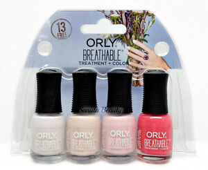 Orly Breathable Treatment Nail Lacquer - MINI Bridal 4pc kits x 0.18oz  #28909