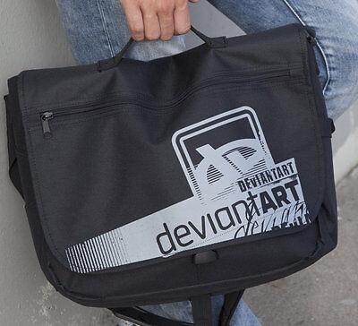 Deviant Art Padded Laptop Messenger Over Shoulder Bag Backpack Artist Deviantart