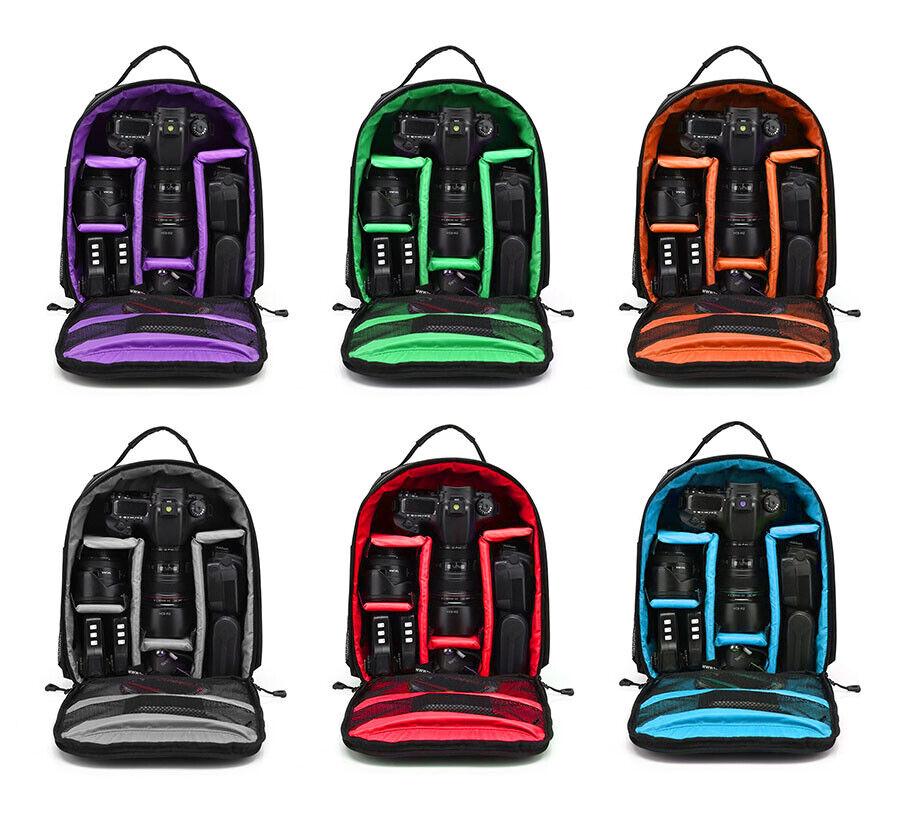 -   10 - Waterproof Shockproof Bag Backpack  for Canon EOS Sony Nikon DSLR Digital Camera