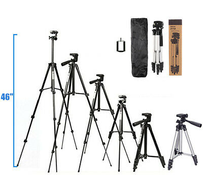 "46"" Professional Camera Tripod Stand Holder Mount for iPhone"