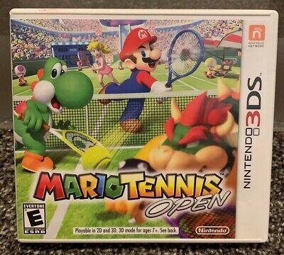 MARIO TENNIS OPEN - NINTENDO 3DS GAME + CASE + No MANUAL