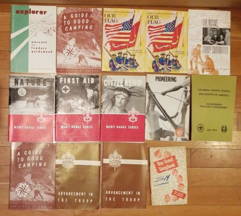 Vintage Lot of 14 BOY SCOUTS OF AMERICA Booklets Incl Boy Scout 1956 Songbook