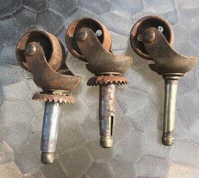 3 Antique Vintage Matching Cast Iron Wheels