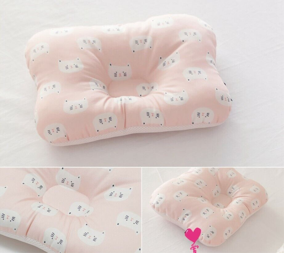 Baby Infant Newborn Pillow Flat Head Sleeping Support Prevent Soft Breathable #11