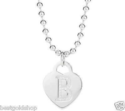 QVC Steel by Design Heart Crystal Initial Pendant with 28