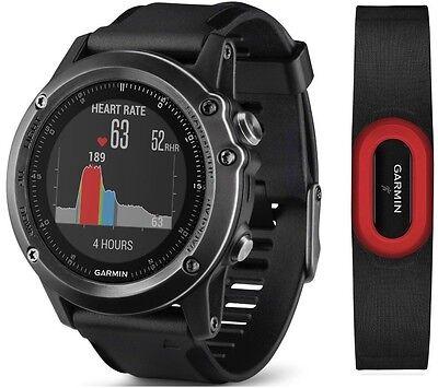 Garmin Fenix 3 HR Sapphire GPS Watch w/ Heart Rate Running Strap 010-01338-73