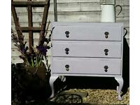 Gorgeous Shabby Chic Three Draw Chest of Drawers