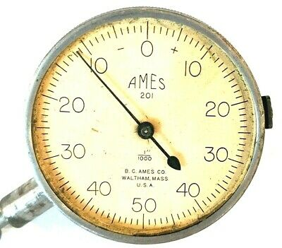 Vintage Bc Ames Co 11000 Dial Indicator Gauge Machinist Lathe Tool