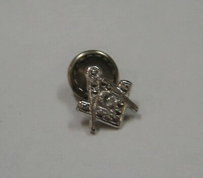 Masonic sterling silver with marcusite stones earring