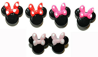 - ADORABLE SMALL MINNIE MOUSE STUD EARRINGS - 3 COLORS
