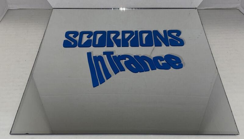VIntage Scorpions In Trance Carnival Mirror Glass 12x12 Rock Music Memorabilia