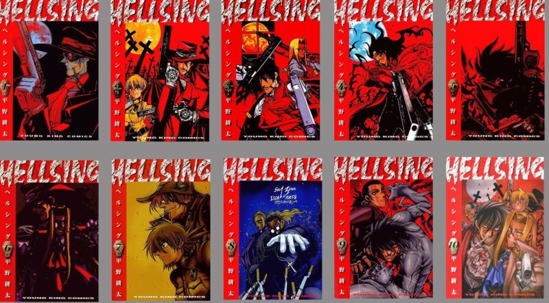 HELLSING KOHTA HIRANO JAPANESE ANIME MANGA BOOK SET VOL.1-13