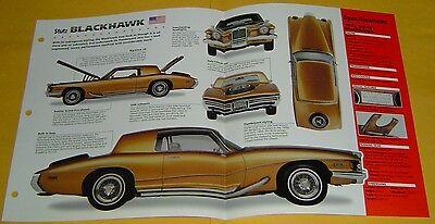 1972 Stutz Blackhawk 455 ci Sammy Davis Jr. Info/Specs/photo 15x9 ()