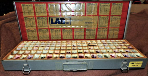 LAB Professional Lock Cylinder Pin Kit .003 KIT in heavy  metal box with charts