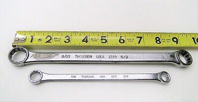 2 Pc Thorsen Usa Double End Box Wrench 12 Point Set 1116 X 58 716 X 38