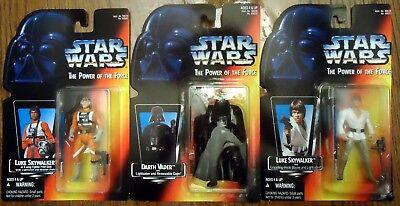 Star Wars POTF2 Lot SS/ST Luke Vader Luke X-Wing MOC 1995
