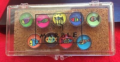 *NEW* Go Fish Marble Push Pins (set of 9), great for photos