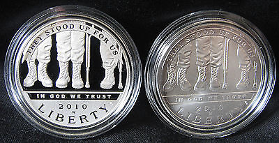 Click now to see the BUY IT NOW Price! 2010 W AMERICAN VETERANS DISABLED FOR LIFE COMMEMORATIVE PF/UNC. SILVER DOLLARS