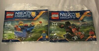 LEGO Set NEXO KNIGHTS Robins Fortrex (30372) & Lava Slinger (30374) New & Sealed