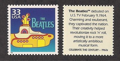 THE BEATLES - YELLOW SUBMARINE - U.S. POSTAGE STAMP - MINT CONDITION