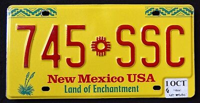 "NEW MEXICO "" ZIA INDIAN SUN "" LAND OF ENCHANTMENT "" NM Graphic License Plate"