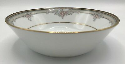 Noritake Blossom Mist Coupe Soup Bowl (s) #3787 Black Gold Beige Floral Floral Coupe Soup Bowl