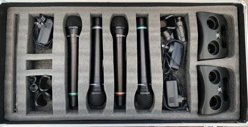VolcoPro UHF-5805 Wireless Rechargeable Microphone System
