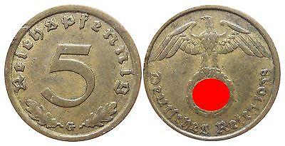 J363    5 Reichspfennig Drittes Reich  1938 G  502747