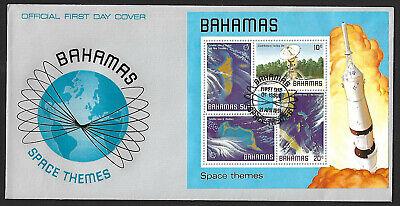 Bahamas 1981 Space 4v & miniature sheet on 2 FDC
