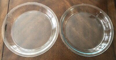 Vintage Pair of PYREX Pie Pans/Plates (#209) ~ 9 inches with Reversed Backstamps