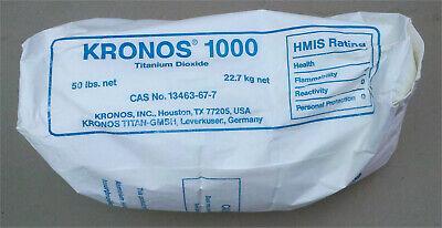 Titanium Dioxide Kronos 50 Pound Lab Chemical Tio2 Ceramic Glaze Pigment 99