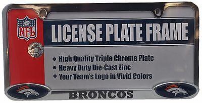 Denver Broncos Triple Chrome License Plate Frame 11276