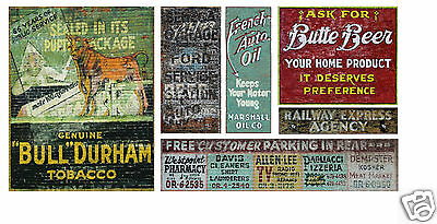 N Scale Ghost Sign Decals #44- Weather Your Buildings & Structures!