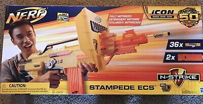 ❇️NEW NERF N-Strike Stampede ECS - 2 Clips, 36 darts ICON series. Never Opened.