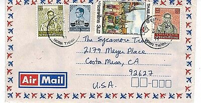 Thailand Stamps: Cover, Udon Thani to Costa Mesa, CA USA