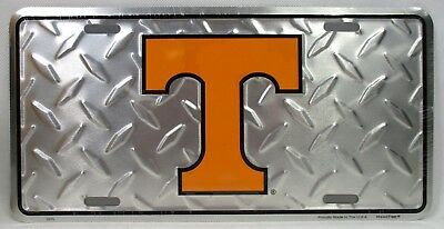 Tennessee Volunteers Diamond License Plate Car Truck Tag Football Go Vols -
