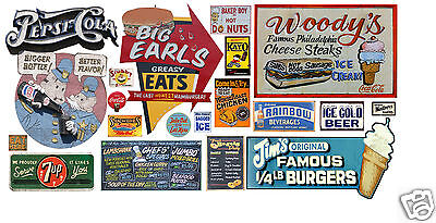 N Scale Food & Beverage Building / Structure Decals #8