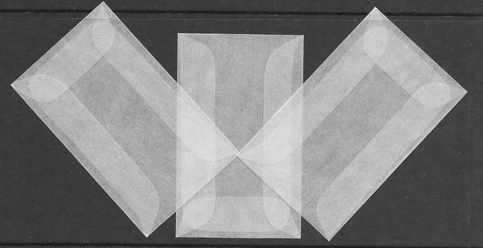 Craft Glassine Envelopes #3--2 1//2 X 4 1//4 1 Lot of 1000 ea. GE3-1000
