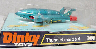 Replacement Repro Yellow Thin Leg Set Gerry Anderson Dinky Thunderbird 2 101