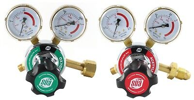 Sa Oxygen And Acetylene Regulators Combo - Welding Gauges - 25hx Series