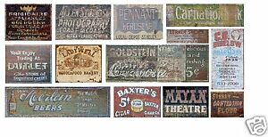 HO-Scale-Ghost-Sign-Decals-31-For-Structures-Buildings-Lot